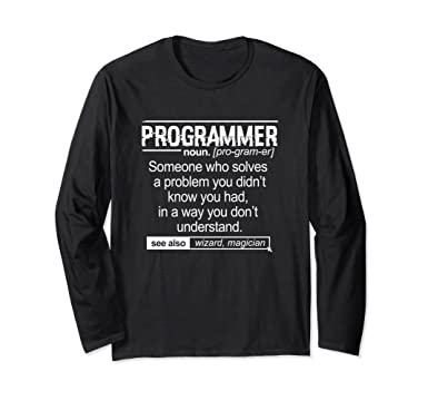 7b8a43c3d Amazon.com: Funny Programmer Meaning Shirt - Computer Coder: Clothing