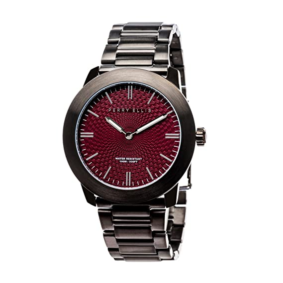 Perry Ellis Slim Line Unisex 42 mm reloj de acero inoxidable de cuarzo 07005 - 02: Amazon.es: Relojes