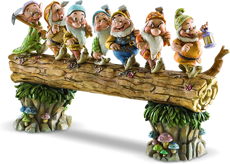 Disney Traditions Figurillas Decorativas con Diseño Traditional, Resina, Multicolor, 20 x 1.1 cm