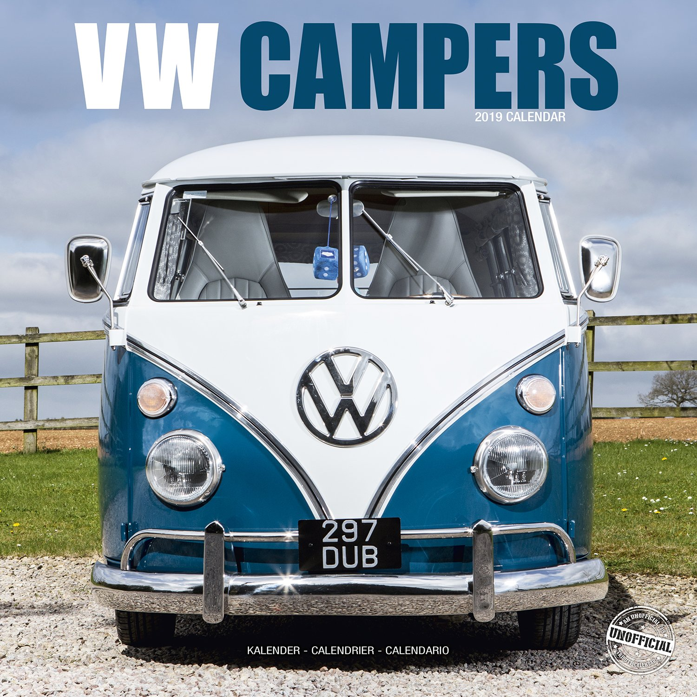 2019 Sqaure Calendar Beetles Car /& Campers Van