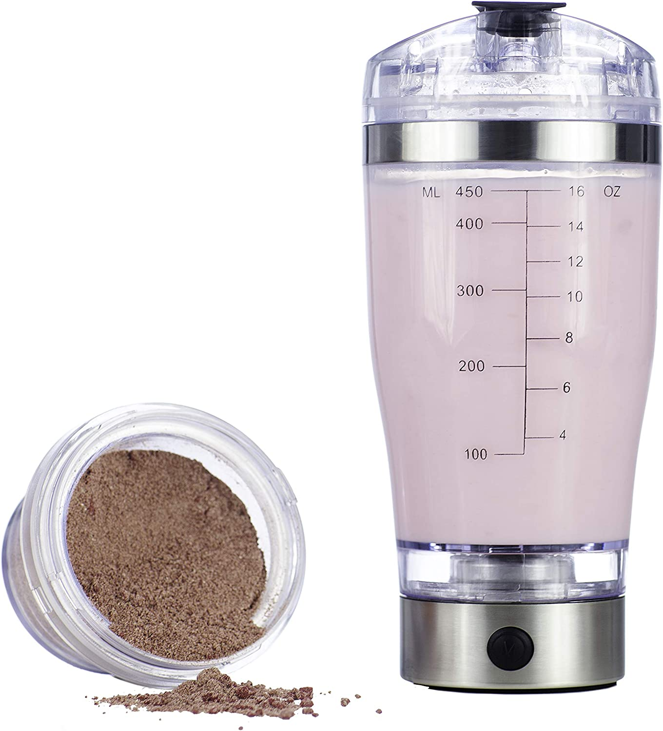 Vortex Select Portable Electric Mixer Shaker Blender Bottle for Protein Powders, Shakes, Eggs, Pre-Workout Shakes, Post-Workout Shakes, and More with Ingredients Cup and USB 16 oz.