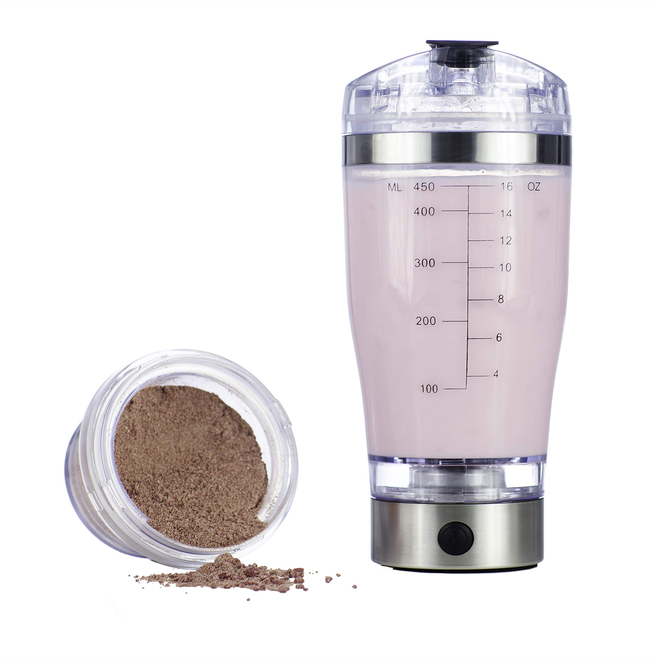 Vortex Select Portable Mixer Shaker Blender Bottle with Ingredients Cup and USB (16 oz.)