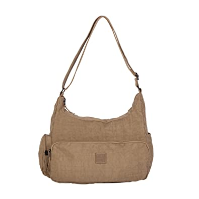 36523128fcde Artsac Womens 50023 Scoop Shoulder Bag Beige  Amazon.co.uk  Shoes   Bags