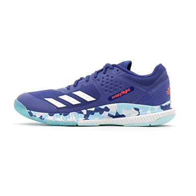 adidas Crazyflight Bounce W, Chaussures de Volleyball Femme, Multicolore-Bleu/Blanc (Tinmis/Ftwbla/Azuhie), 37 1/3 EU