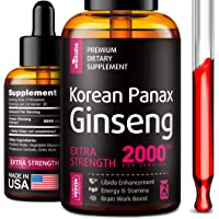 Liquid Korean Panax Ginseng Extract - High in Ginsenosides - Made in USA - Organic...