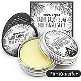 Künstlerseife zur Farbpinsel Reinigung | Ölfarben, Aquarell und Acrylfarben Pinselreiniger für Künstler | 40g Paintbrush Cleaner von Tritart