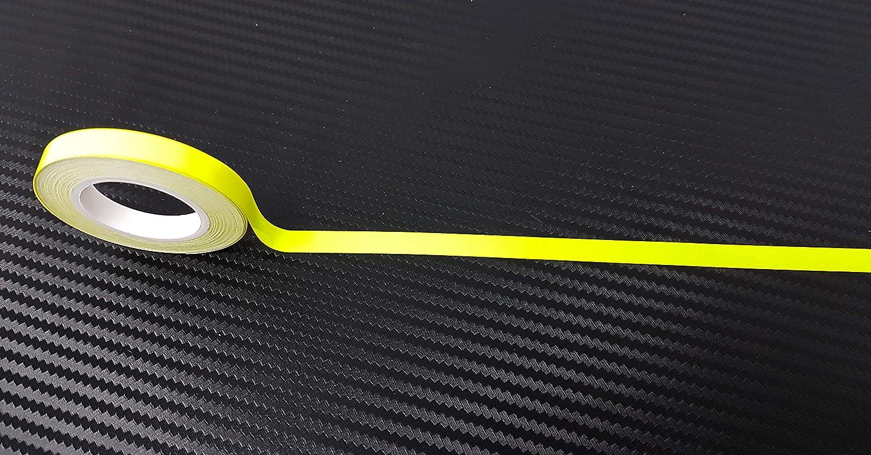 Tiras adhesivas fluorescentes Wheel Color amarillo fl/úor Quattroerre Medidas 7 mm x 6 mt