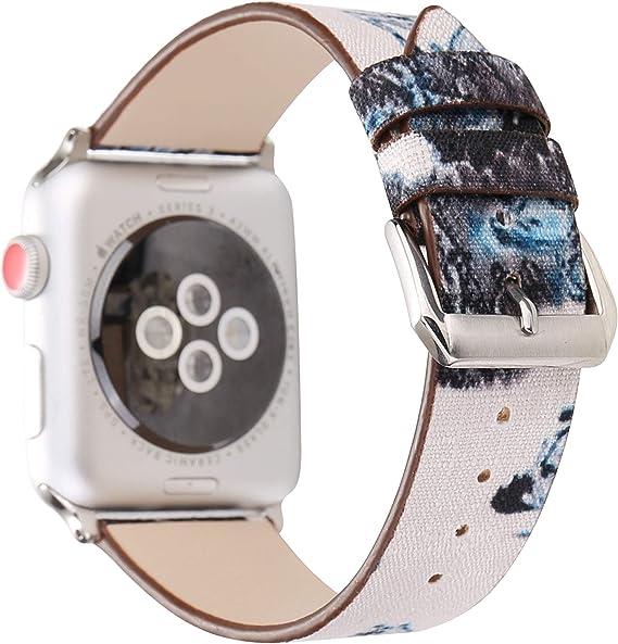 Amazon.com: Correa de piel de Apple Watch, de repuesto, para ...