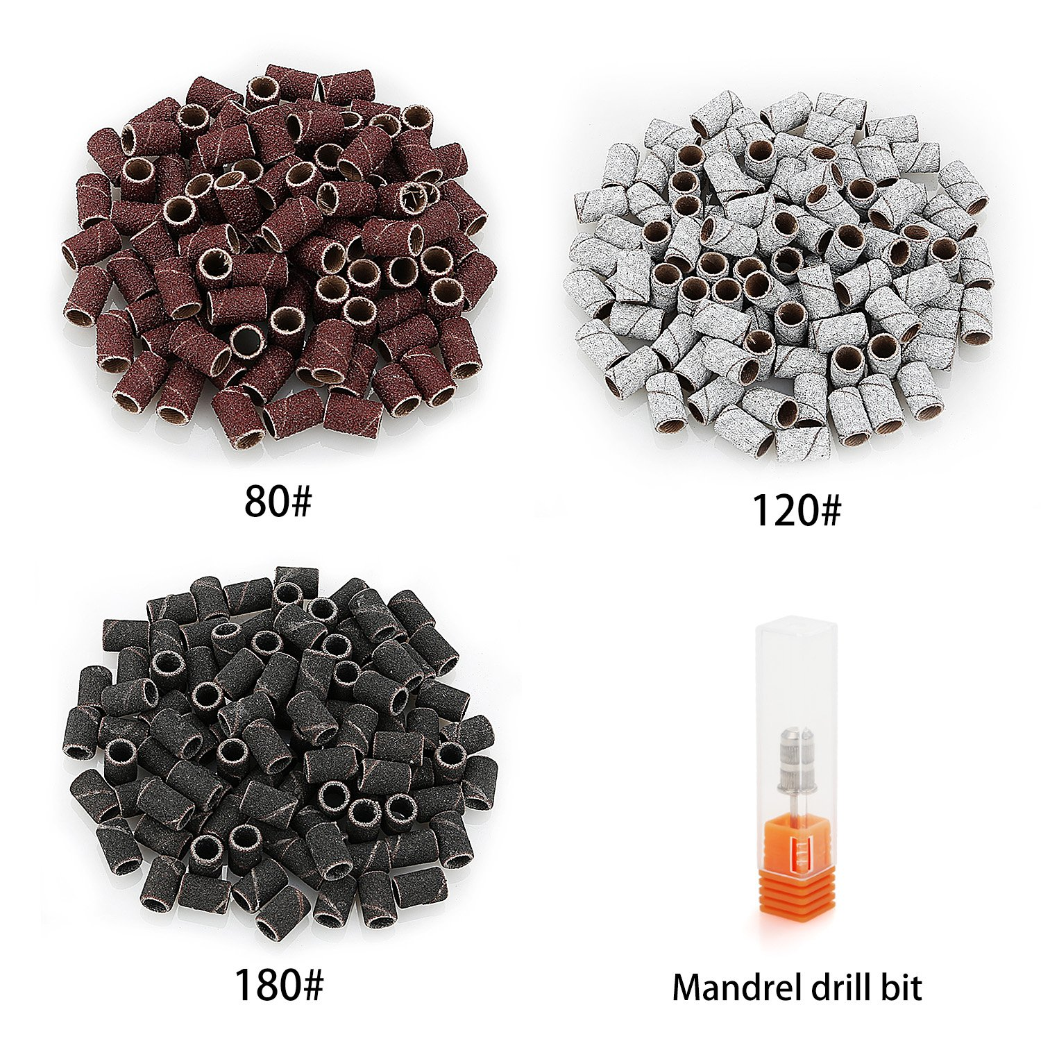 52fdba6fb73 Belle 300pcs Sanding Bands Grit File For Professional Nail Manicure Drill 3  colors(80