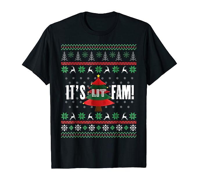 Amazon.com: Christmas Gift Ideas It\'s Lit Fam Ugly Christmas Sweater ...