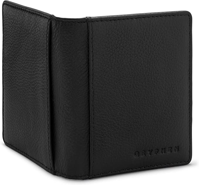 RFID Secure Hoxton Two Fold Leather Credit Card Case by Gryphen