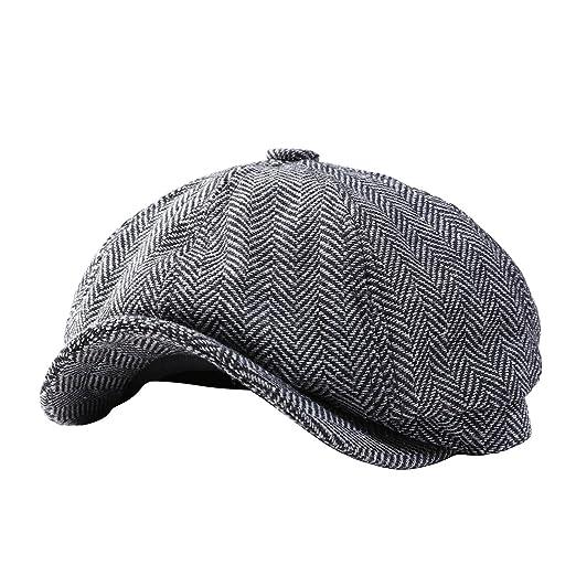 9d2547fcc8a Amazon.com  GESDY Mens Vintage Newsboy Ivy Cap Flat Octagonal Golf Driving Hat  Beret Cabbie Gatsby  Toys   Games