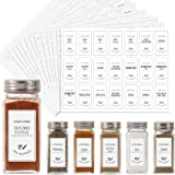 Aozita White 399 Printed Spice Jar Labels Stickers, Extra Write-on Labels for DIY, Farmhouse Waterproof Spice Labels for…