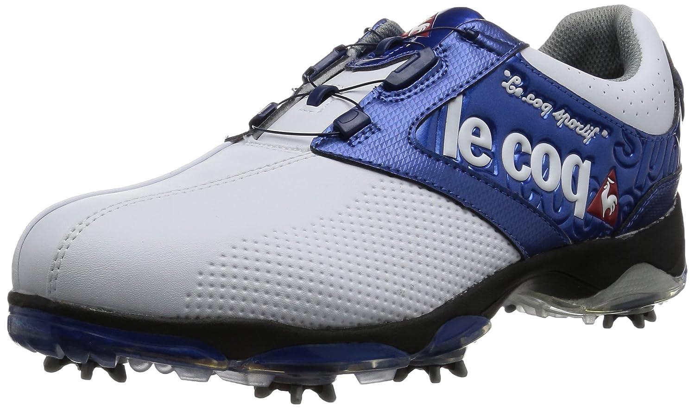 [ルコックスポルティフゴルフ] le coq sportif/GOLF COLLECTION メンズゴルフシューズ B0185DKXZ0 26 3E ホワイト/ブルー