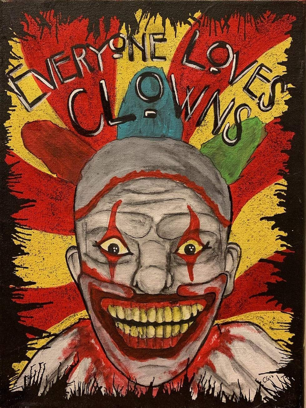 American Horror Story Freak Show Clown Painting Amazon Ca Handmade