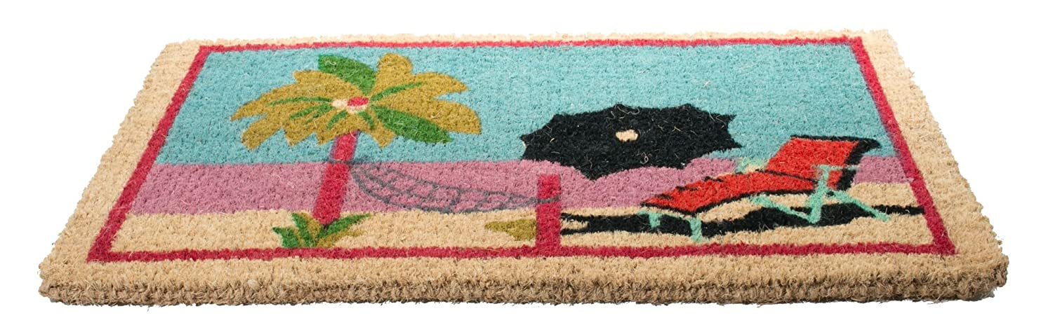 Sea Shells Imports D/écor Decorated Coir Doormat 18 by 30-Inch Imports Decor 329BCM