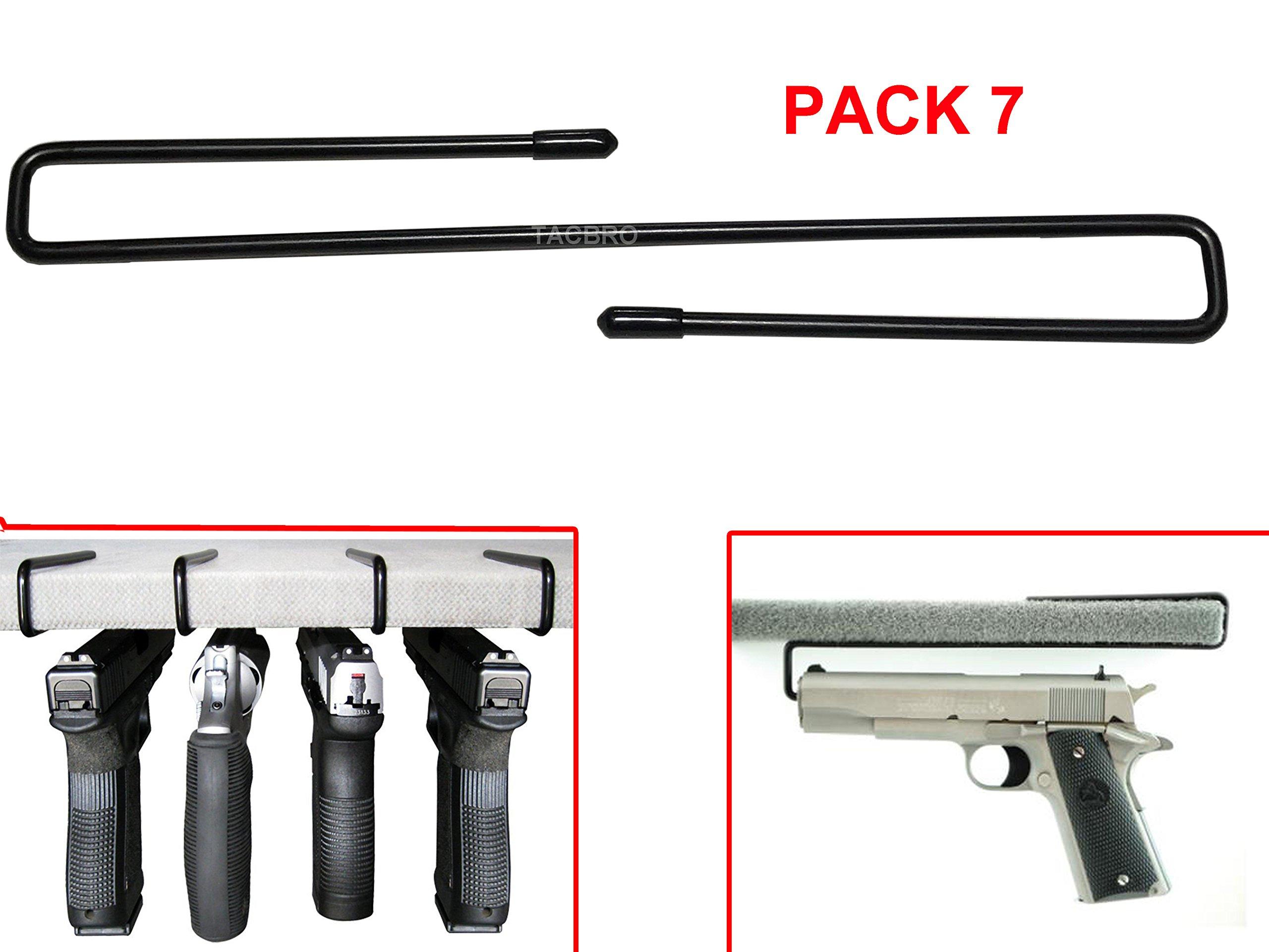 TACBRO Pack of 7 Pistol/Handgun Rack Storage Solutions Hangers