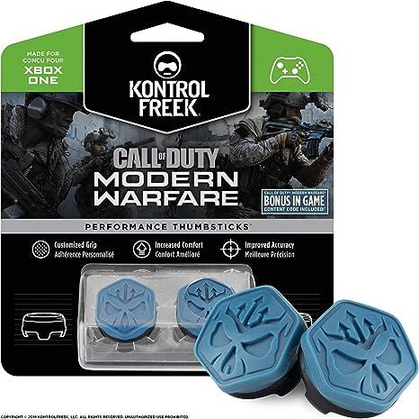 KontrolFreek Call of Duty Modern Warfare Performance Thumbsticks para XBOX One | 2 Media Altura, Convexos | Azul/Negro: Amazon.es: Videojuegos