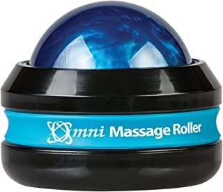 product image for Core Products Omni Massage Ball Manual Roller Massager for Self Massage Therapy Tool, Black Cap - Blue