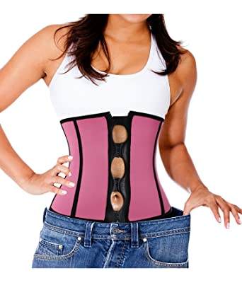 5e15664effeb9 Ursexyly Cute Burn Slimming Body Shaper Hour Glass Clip and Zip Waist  Trainer Neoprene Workout Top