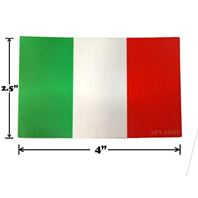 "Italian Flag Decal Vinyl Sticker The Flag of Italy Tricolor Bandiera 4"" x 2.5"" Weatherproof UV Resistant Set of 4 Spy Spot: Automotive"
