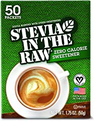 STEVIA IN THE RAW, Zero Calorie Sweetener Packets 50 Count Box (1 Pack)