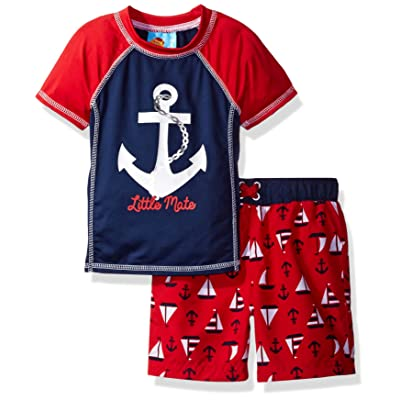 Baby Buns Baby Boys' Sail Away Swim Set Rashguard