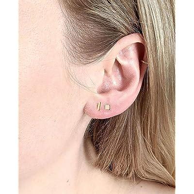 geometric minimalist silver studs gift for boyfriend 2mm tiny sterling silver dot stud earrings mens studs minimalist studs mens gift