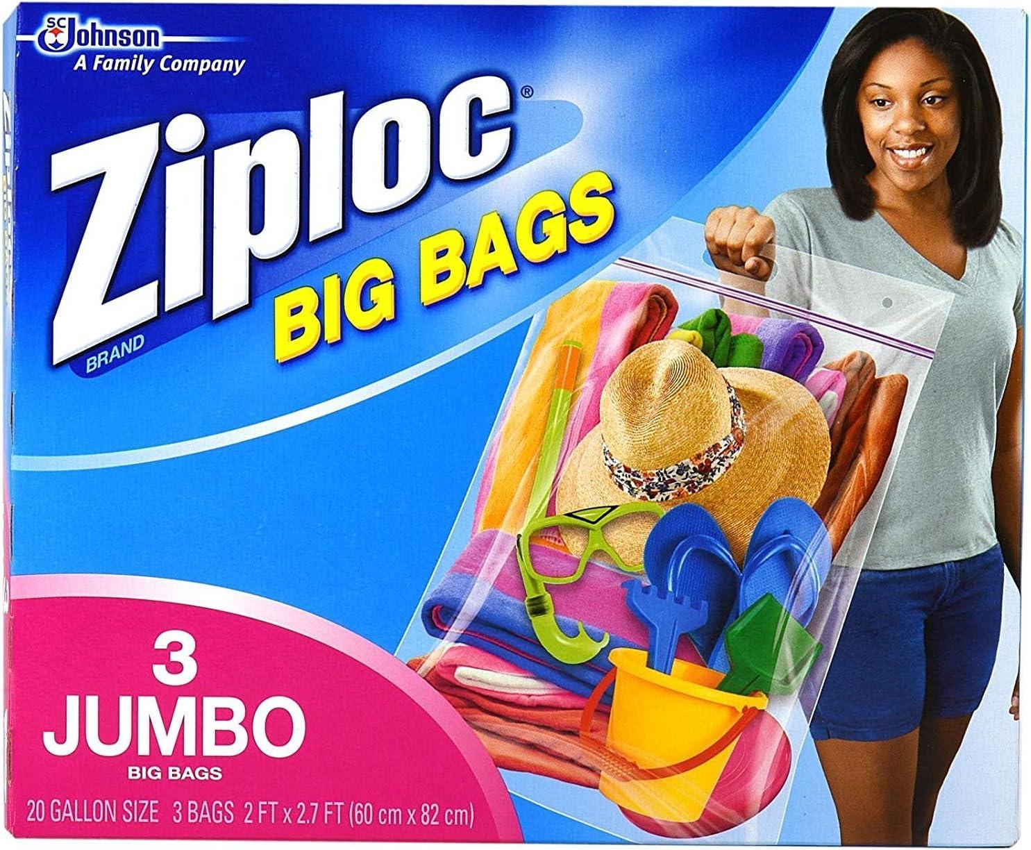 Ziploc Big Bags, XXL Double Zipper Bag - 3 ct - 2 pk