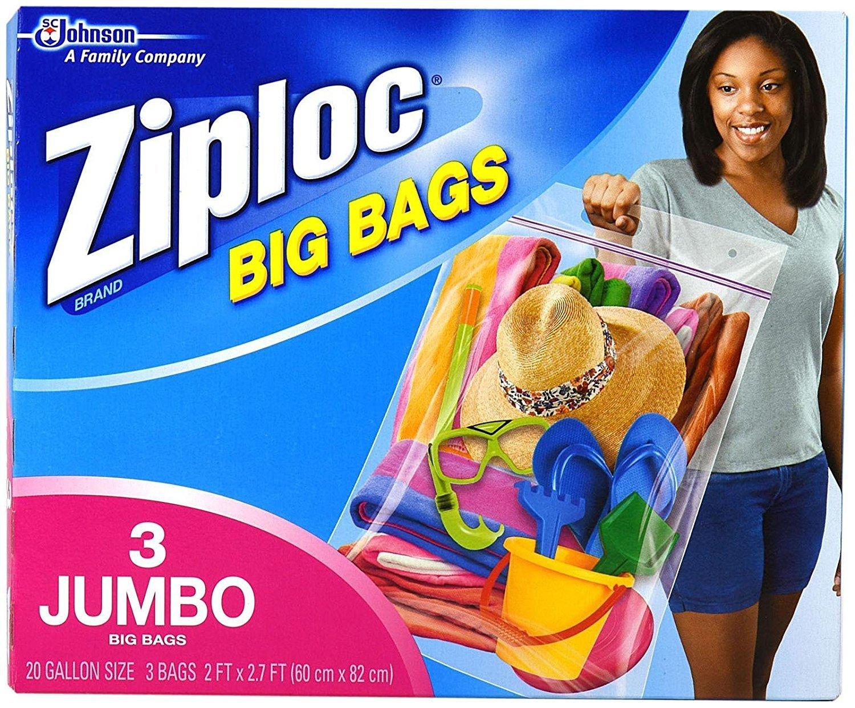 Ziploc Big Bags, XXL Double Zipper Bag - 6 Count by Ziploc