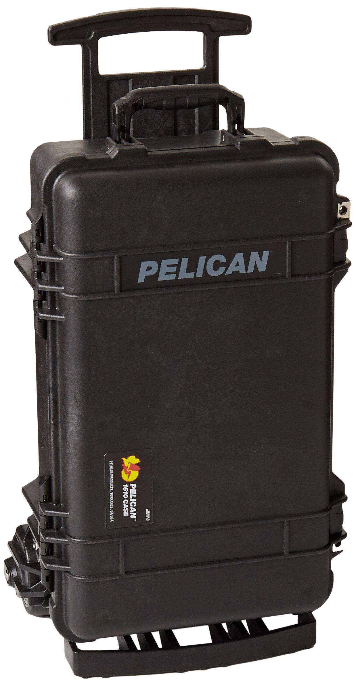 Estuche : Pelican 1510 C/ Ruedas Con Espuma Negro