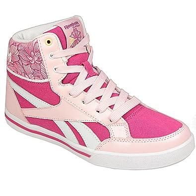 4bbeae424a63 Reebok Girls Classics Junior Girls Topscotch Trainers in Pink - UK 5 ...