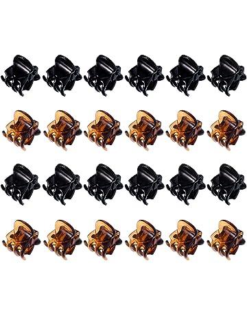 24 Piezas Mini Clips de Pelo Garras de Pelo de Plástico Pinza de Pelo para  Chicas 0883d9913155