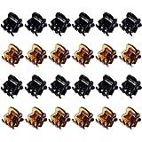 24 Pezzi Mini Capelli Clip Plastica Capelli Claw Pin Fermagli per Ragazze e Donne (Nero e Marrone)
