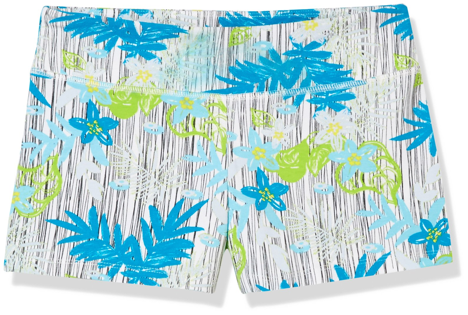 Goodsport Girl's Active Wear Printed Shorts with Palm Leaves Print, Medium