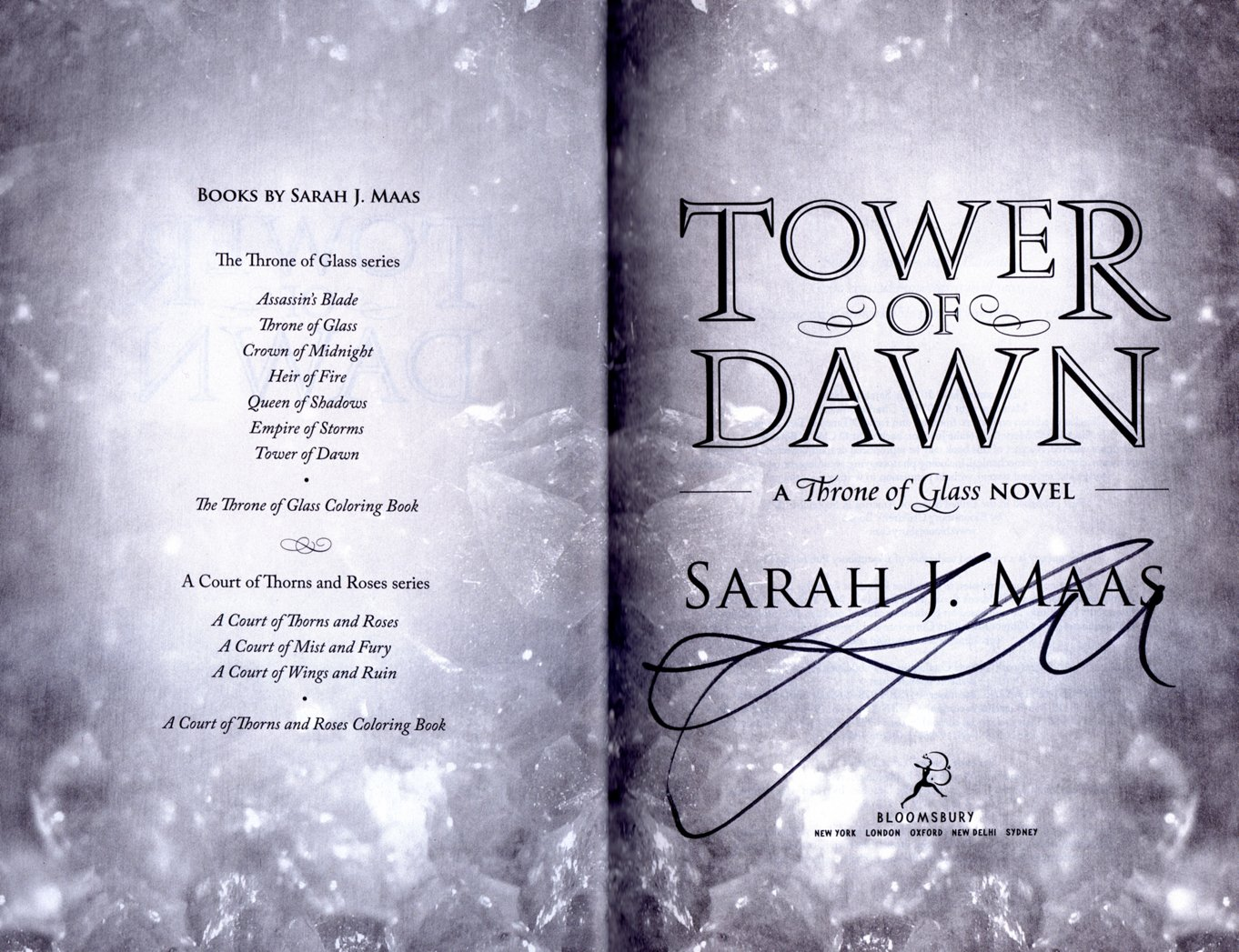 Tower Of Dawn A Throne Of Glass Novel Signed Special Edition Isbn