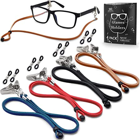 4PCS Beads Glasses Sunglasses Spectacle Neck Cord Lanyard Strap Chain 30/'/'