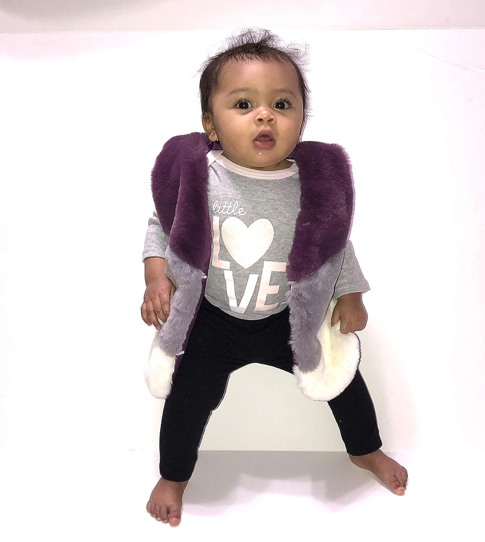 Motae Products Baby Girl Faux Fur Vest