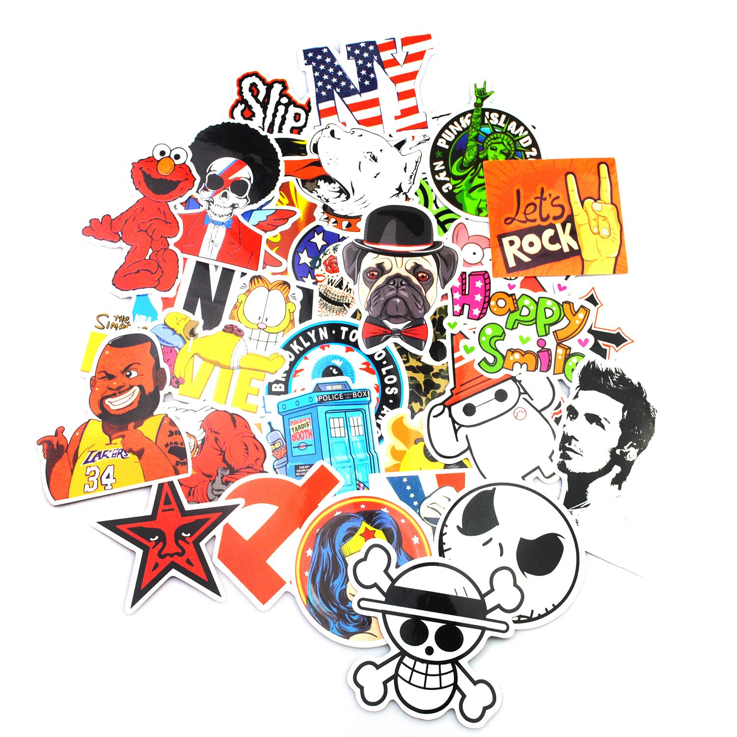 Amazon com sticker pack 200 pcs neuleben graffiti sticker decals vinyls for laptop kids teens cars motorcycle bicycle skateboard luggage