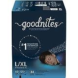 GoodNites,Boys Bedwetting Underwear, L/XL, 34 ct
