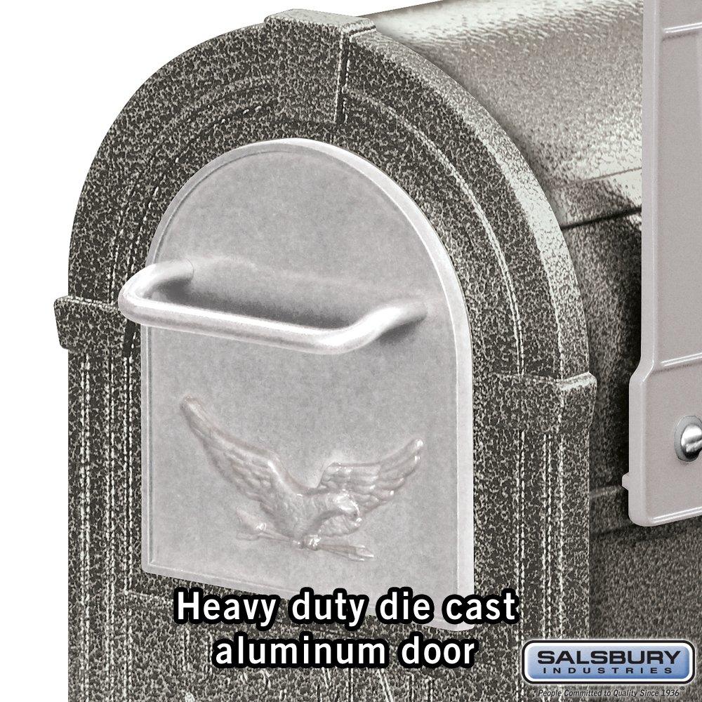 Salsbury Industries 4855E-PWS Eagle Rural Mailbox, Pewter/Silver Eagle