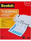 Scotch Thermal Laminating Pouches, 9.3 x 11.75-Inches, 3 mil thick, 100-Pack (TP3854-100)