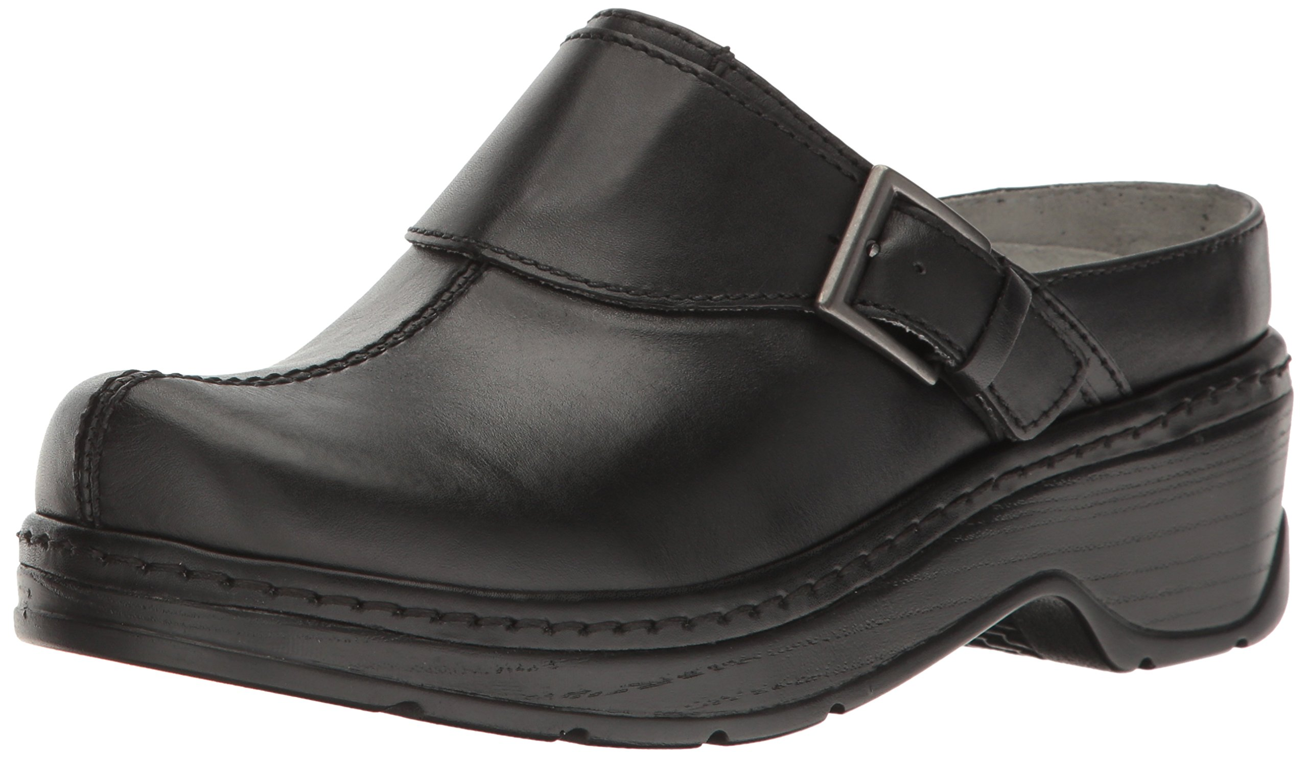 Klogs USA Women's Austin Open Back Clog,Black Smooth,8.5 W US