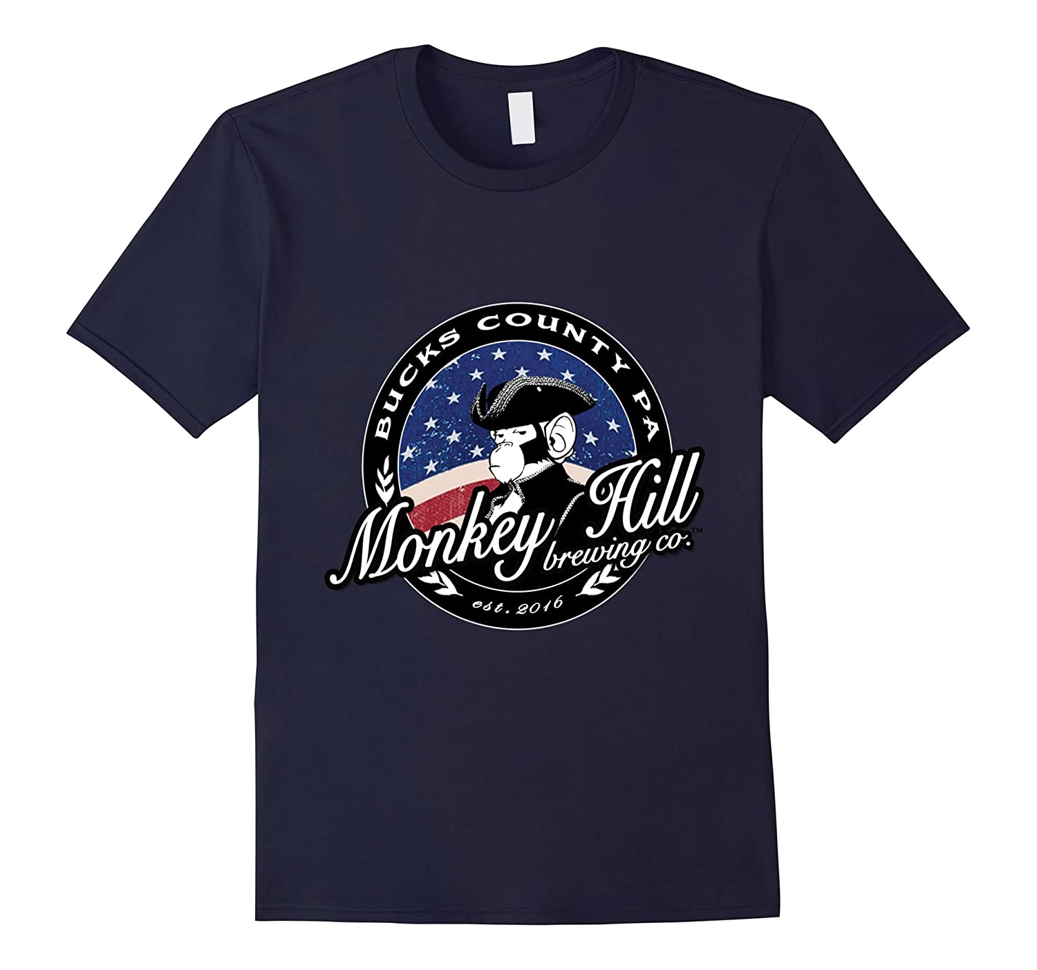 Monkey Hill Brewing Company Bucks County PA Beer T Shirt-TD