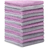 Microfiber Cleaning Cloth - 12 Pack Kitchen Towels - Double-Sided Microfiber Towel Lint Free Highly Absorbent Multi-Purpose D