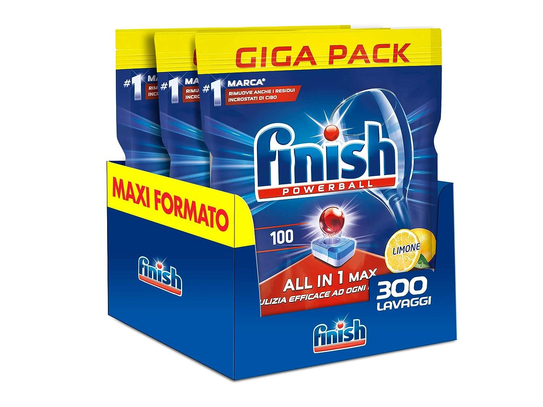 Finish de Pastillas de lavavajillas All in One Max Limón - 4890 G ...