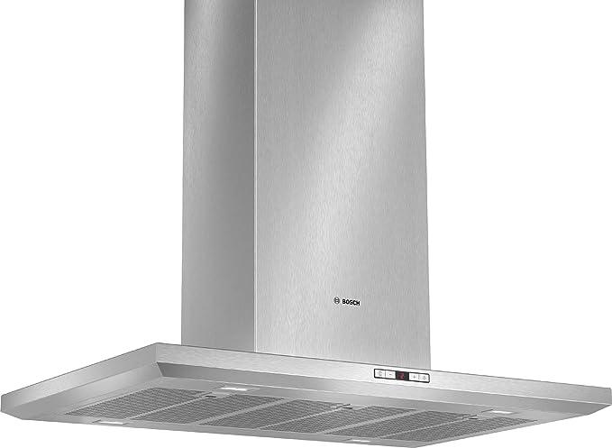 Bosch DIB098E50 - Campana (Canalizado/Recirculación, 870 m³/h, 430 m³/h, Isla, LED, 888 Lux) Acero inoxidable: 780.45: Amazon.es: Grandes electrodomésticos