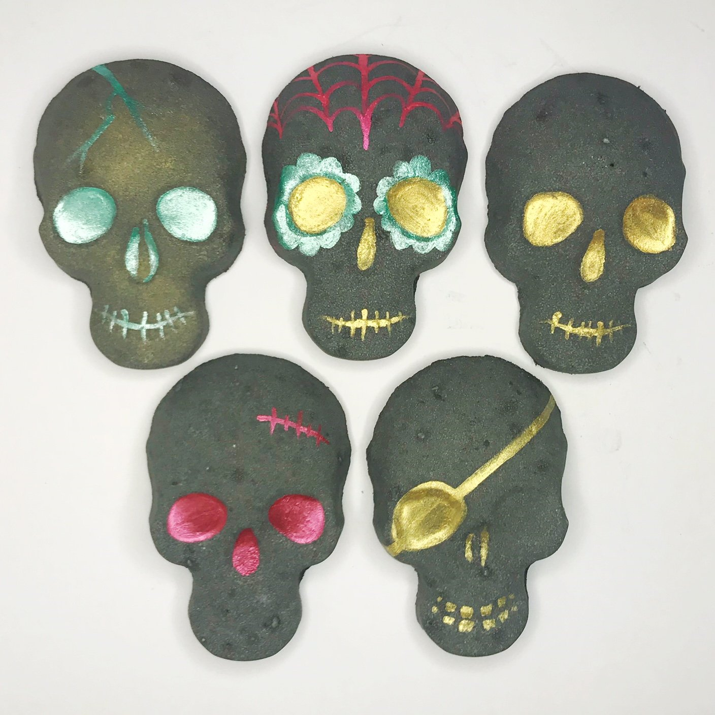 Amazon Skull Bath Bomb 5 Set Charcoal Bath Bomb Halloween