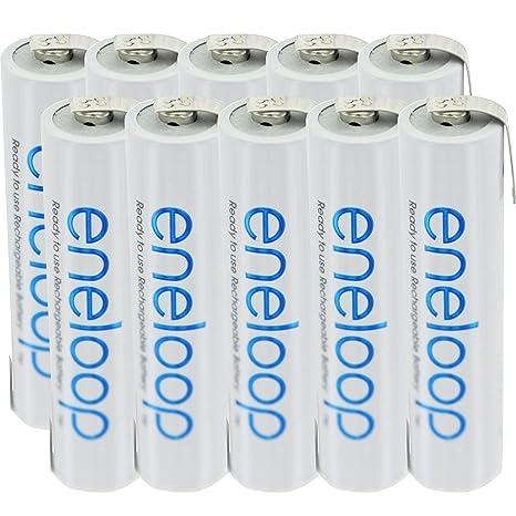 10er Pack de pilas Sanyo eneloop Micro/AAA con soldadura en Z-form
