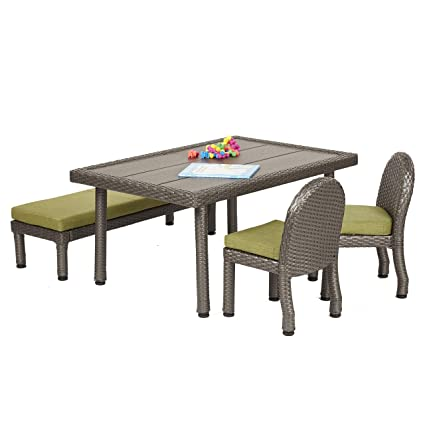 Kids Patio Furniture.Amazon Com Ecr4kids Petite Patio Furniture Set For Kids 4 Piece